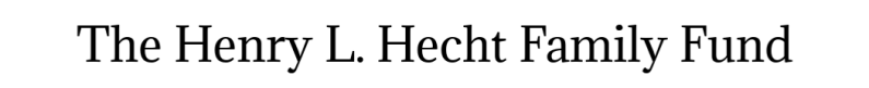 Logo The Henry L. Hecht Family Fund